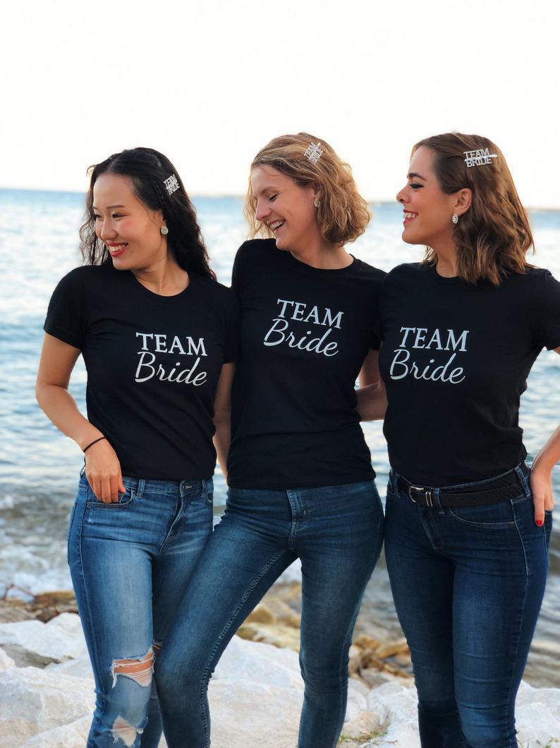 Presilha Team Bride Prateada Pronta Entrega para Despedida de Solteira