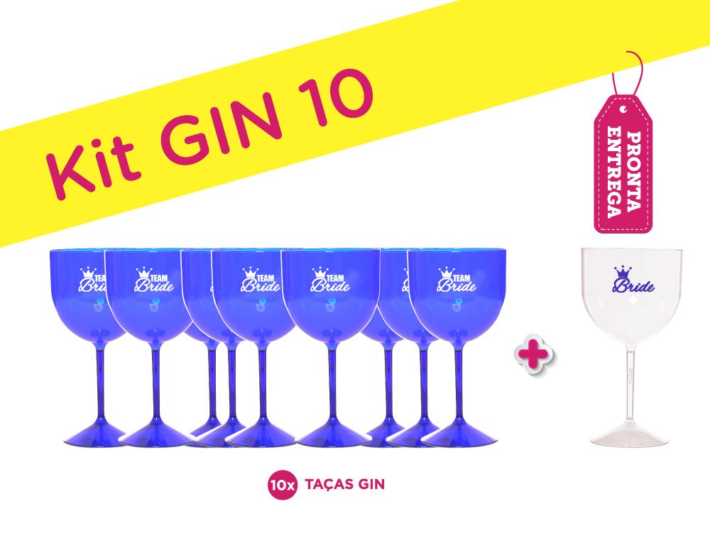 Kit Gin 10 Azul Pronta Entrega para Despedida de Solteira Teste