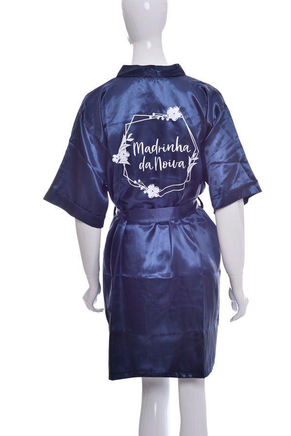 Robe Manga Curta Personalizado para Despedida de Solteira