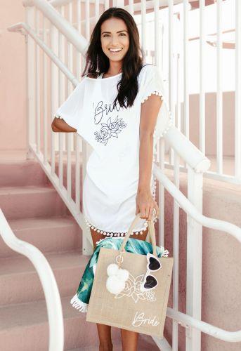 Saída de Praia Ibiza Bride Branca Pronta Entrega para Despedida de Solteira