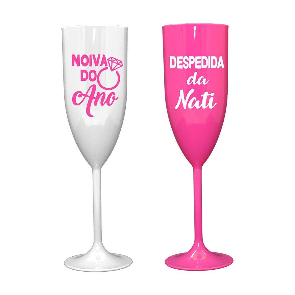 Taça de Champagne 200ml Personalizada para Despedida de Solteira