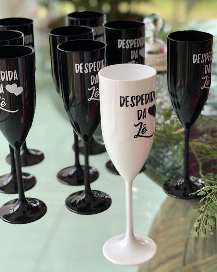 Taça de Champagne Personalizada para Despedida de Solteira