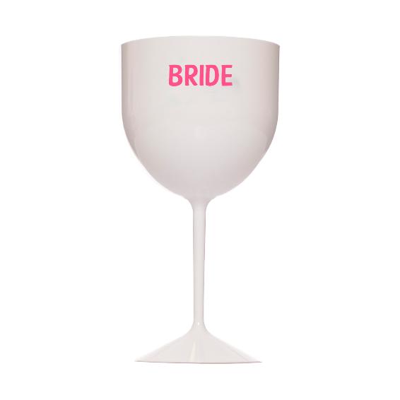 Taça de Gin 550ml Branca Bride Pronta Entrega para Despedida de Solteira