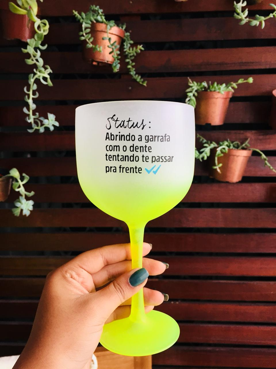 Taça de Gin 550ml Degradê Personalizada para Despedida de Solteira