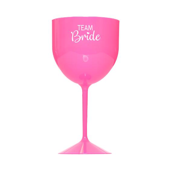 Taça de Gin 550ml Rosa Team Bride Pronta Entrega para Despedida de Solteira