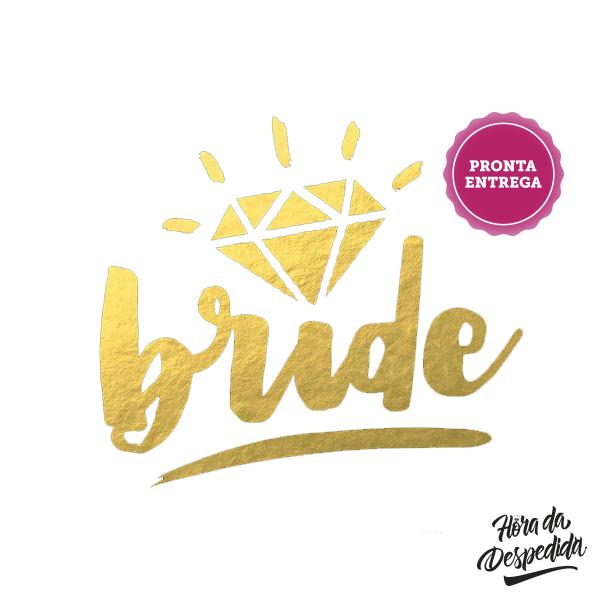 Tatuagem Bride Dourada Pronta Entrega para Despedida de Solteira