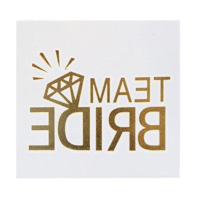 Tatuagem Diamante Dourada Pronta Entrega para Despedida de Solteira
