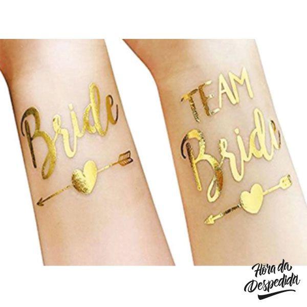 Tatuagem Dourada Pronta Entrega para Despedida de Solteira