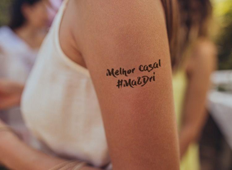Tatuagem Personalizada para Despedida de Solteira