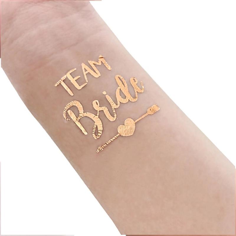 Tatuagem Rose Gold Pronta Entrega para Despedida de Solteira