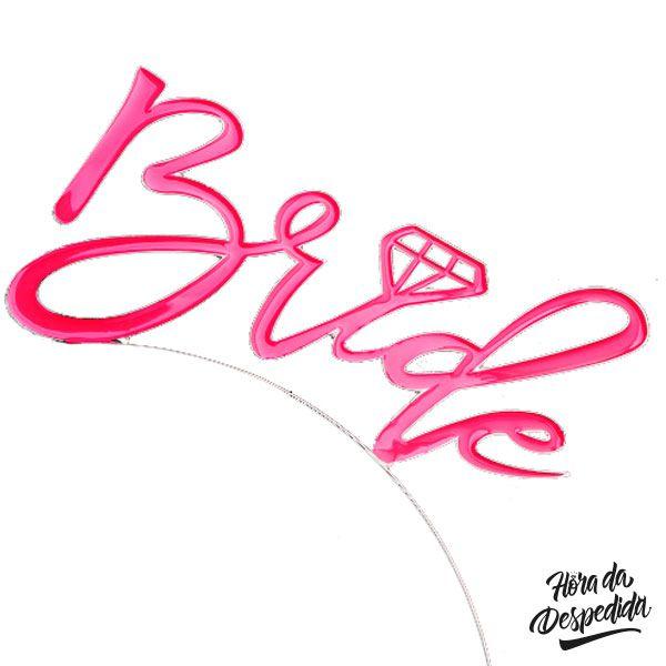 Tiara Bride Pink para Despedida de Solteira