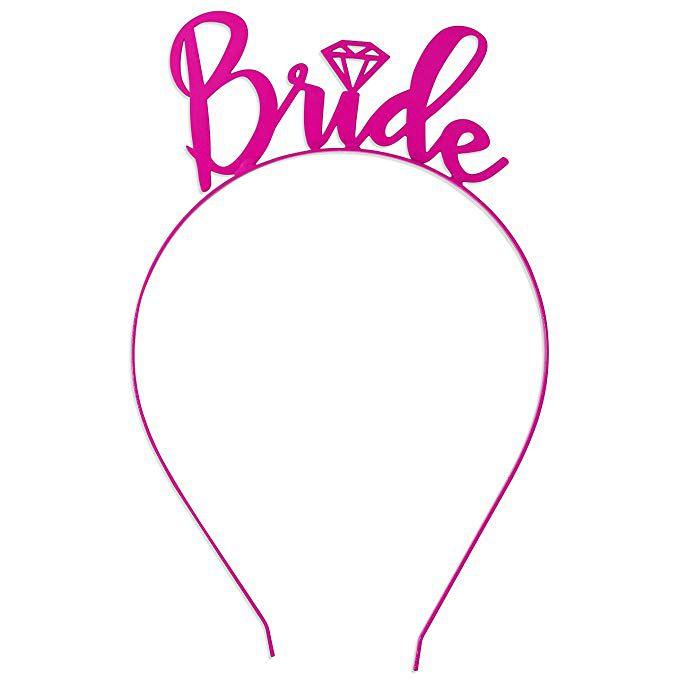 Tiara Bride Rosa com Diamante Pronta Entrega para Despedida de Solteira