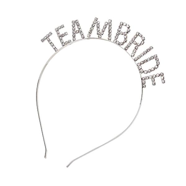 Tiara Team Bride Prateada Pronta Entrega para Despedida de Solteira