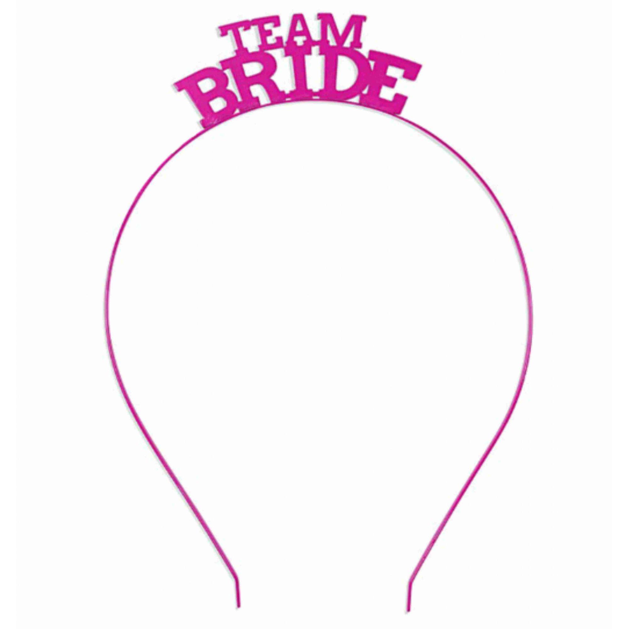 Tiara Team Bride Rosa Pronta Entrega para Despedida de Solteira