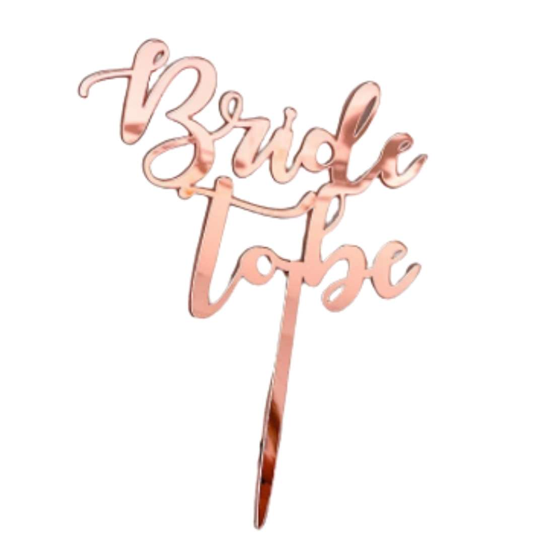 Topper de bolo bride to be rose gold