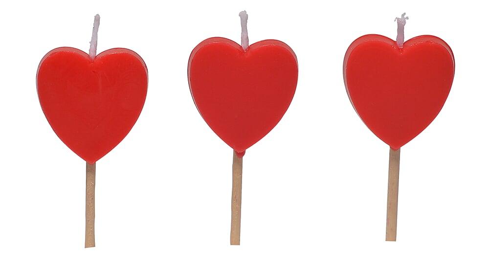 Vela Coração Pronta Entrega para Despedida de Solteira