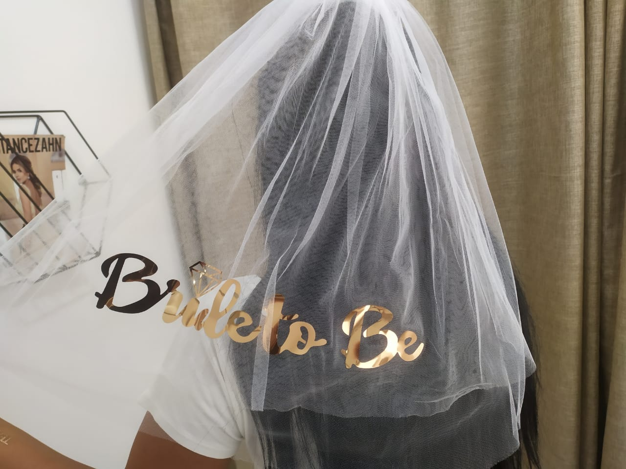 Véu Bride to Be Rose Gold Pronta Entrega para Despedida de Solteira