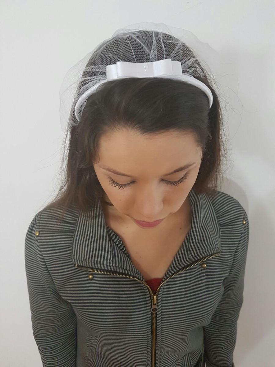 Véu para Despedida de Solteira Slim em Cetim