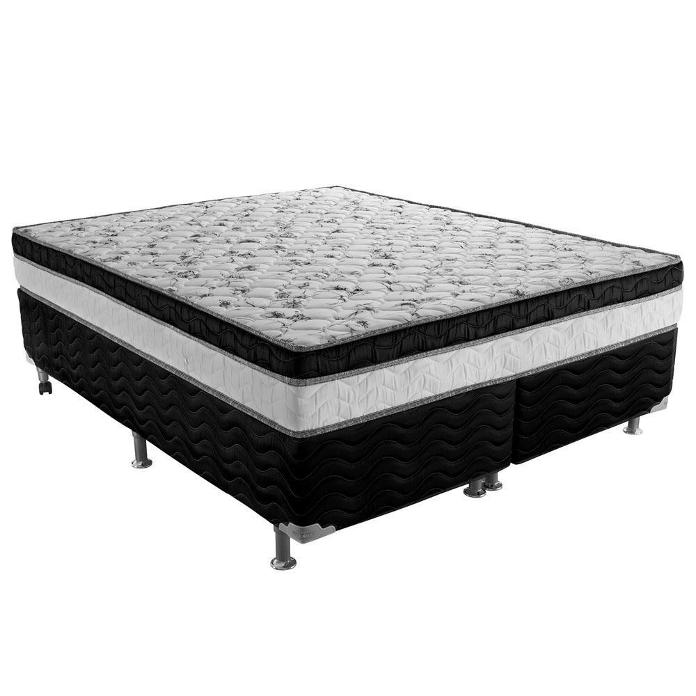 CAMA BOX BAU QUEEN SIZE MOLA BONNEL COM PILLOW-TOP