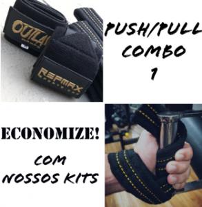PUSH/PULL COMBO BLACK N GOLD - 30cm