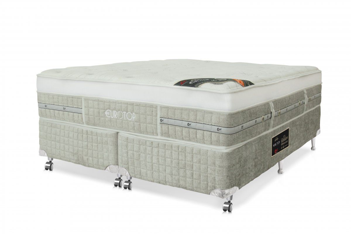 Conjunto Box Queen Eurotop Summer & Winter Molas Pocket® Castor