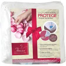 Lençol Protege Toque de Rosas Impermeável Fibrasca
