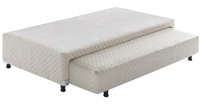 Sommier com cama auxiliar de molas solteiro Ecoflex