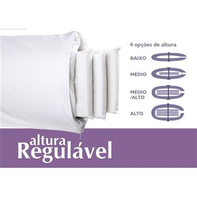 TRAVESSEIRO ALTURA REGULAVEL FRESH RE1103 DUOFLEX