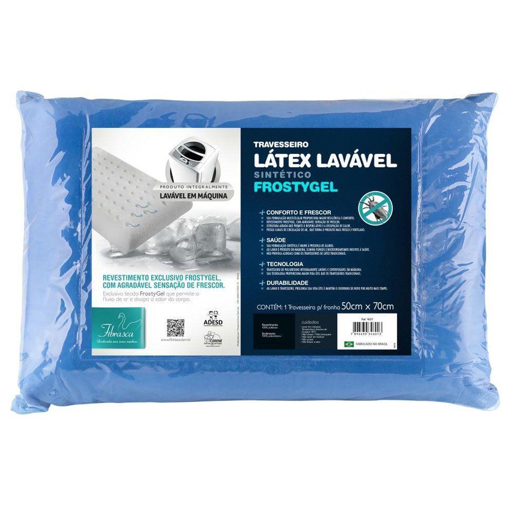Travesseiro Latex Lavável Frostygel Fibrasca