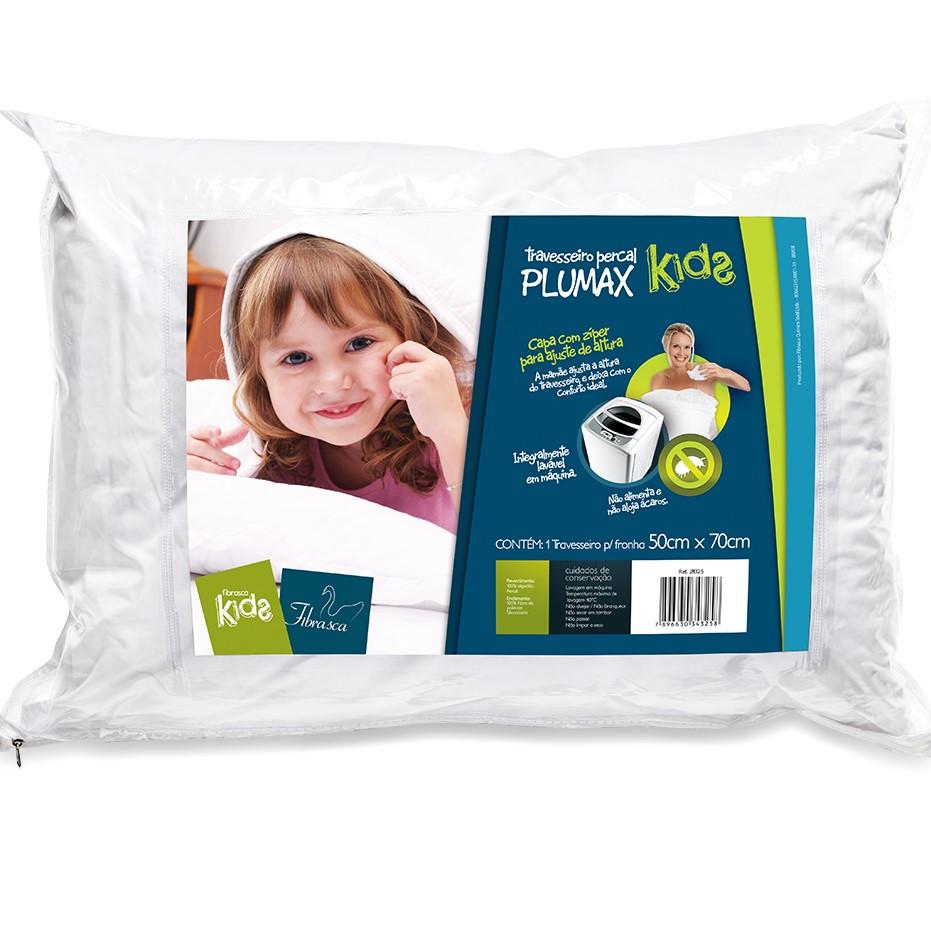 Travesseiro Percal Plumax Kids Fibrasca