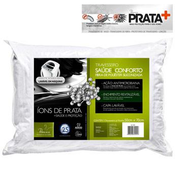 Travesseiro Saúde & Conforto Íons de Prata 50x70 Fibrasca