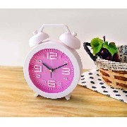 Relógio Despertador Clean Rosa Fashion