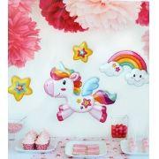 Adesivo Unicórnio sticker para Festa Decoração 31,5 x 30,5 cm