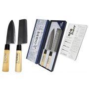Faca Japonesa kit 2unid Shimomura Fio bilateral