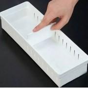 Kit 3 Portas objetos com divisória ajustável gaveta INO-0073