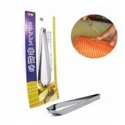 Pinça para Tirar Espinha de Peixe Salmão Sashimi