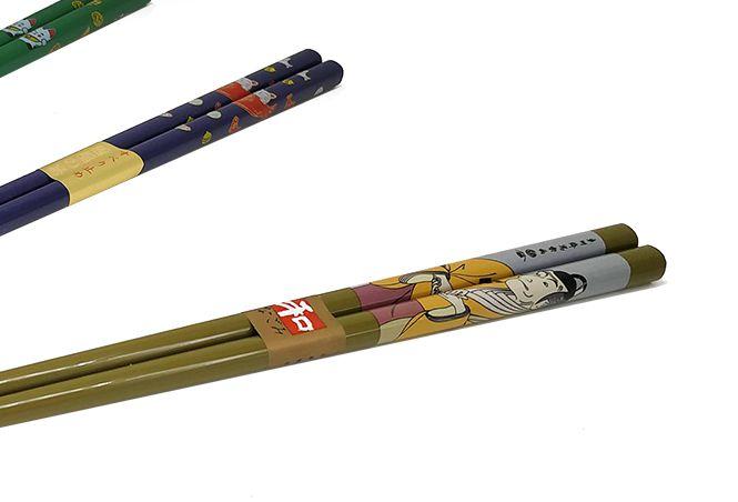 4 Hashis sortidos 22,5cm pauzinho japonês  - Super Utilidades