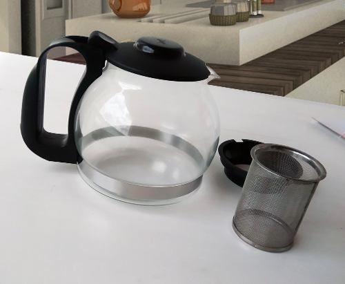 Chaleira de vidro 1,2 litros com Infusor de Chá - Wincy  - Super Utilidades