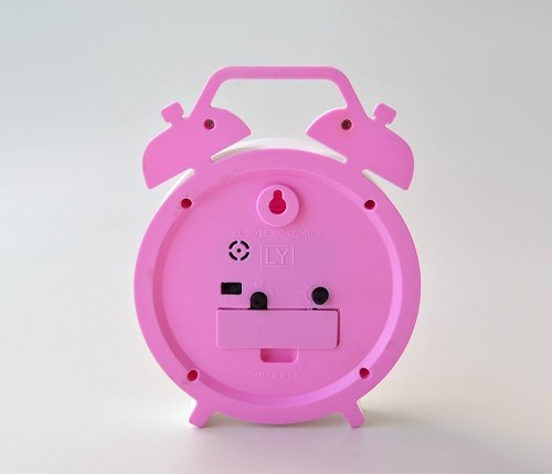 Relógio Despertador Clean Rosa Fashion  - Super Utilidades