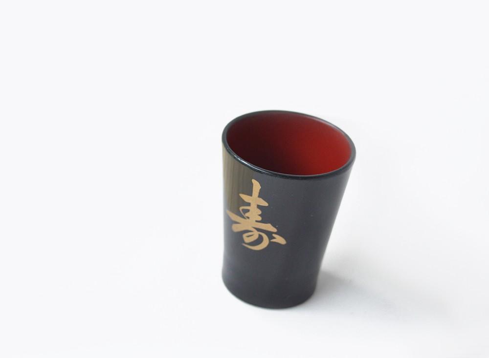 Jogo De Copos Sake 6 Peças Com Ideograma Japonês  - Super Utilidades