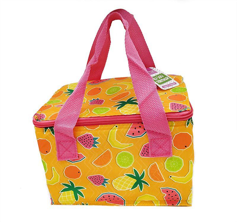Bolsa Sacola Térmica Frutinhas 21x15x14cm  - Super Utilidades