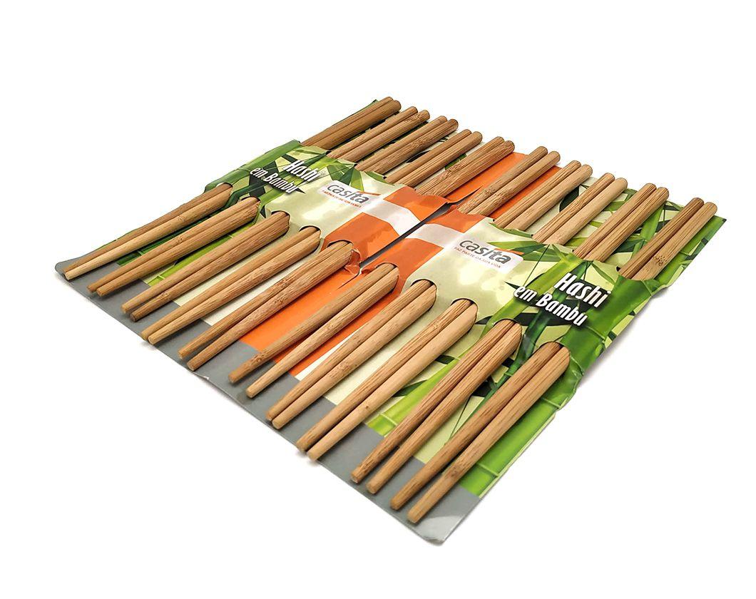 Conjunto Hashi bambu 10 pares   - Super Utilidades