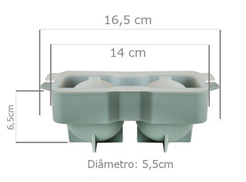 Forma de Gelo Bola Esfera silicone Whisky  - Super Utilidades