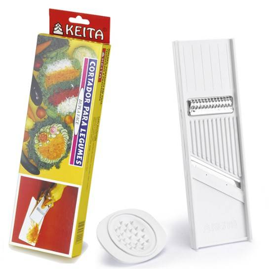 Cortador de Legumes Dupla Face - KEITA CR01  - Super Utilidades