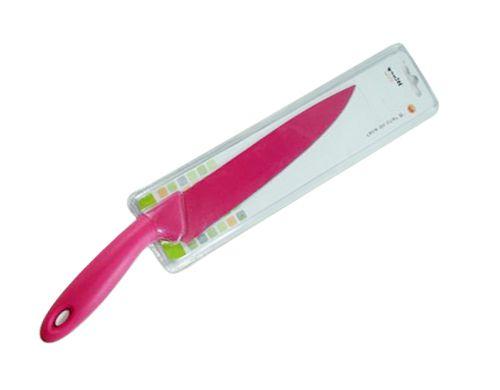 Faca de Cozinha 8 polegadas Wincy Revestido Rosa  - Super Utilidades