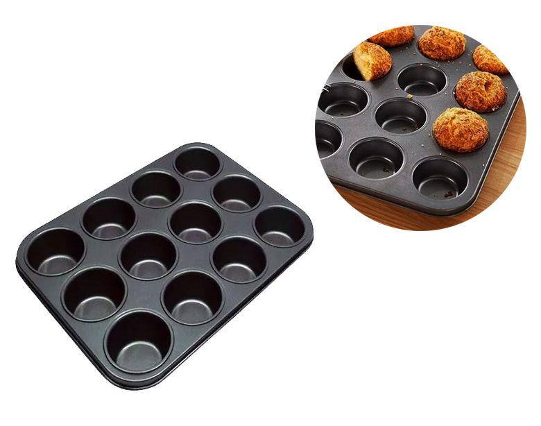 Forma Pão De Queijo E Cupcake Anti-aderente 12 Cavas  - Super Utilidades