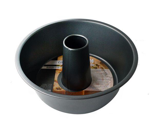 Forma para Bolo e Pudim 26x11,5 cm antiaderente  - Super Utilidades