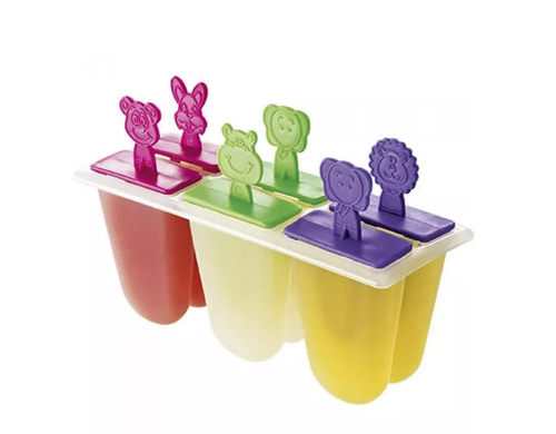 Forma sorvete picole forma de bichos 6 formas  - Super Utilidades