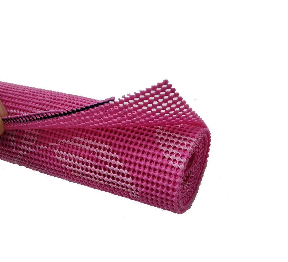 Tela antiderrapante fino Rosa kit 5 pcs   - Super Utilidades