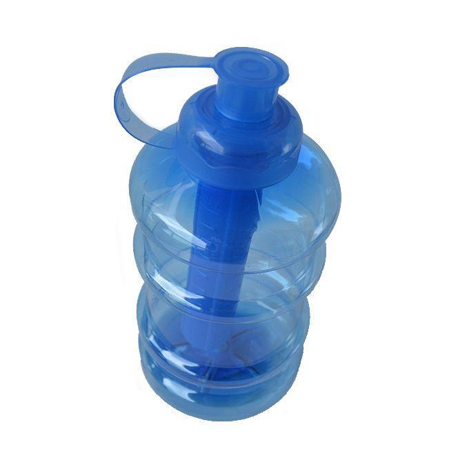 Garrafa com tubo de gelo 1000 ml Formato de Galão - Academia   - Super Utilidades